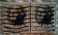 1962 U. S. Scott 1229 George Washington Coil two used cancelled 5 cent stamps