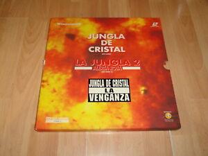 LA JUNGLA DE CRISTAL I-II-III CON 4 DISCOS EN LASER DISC + POSTERS BUEN ESTADO