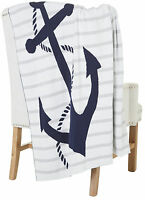 Coastal Home Anchor Knit Throw Blanket One Size on sale