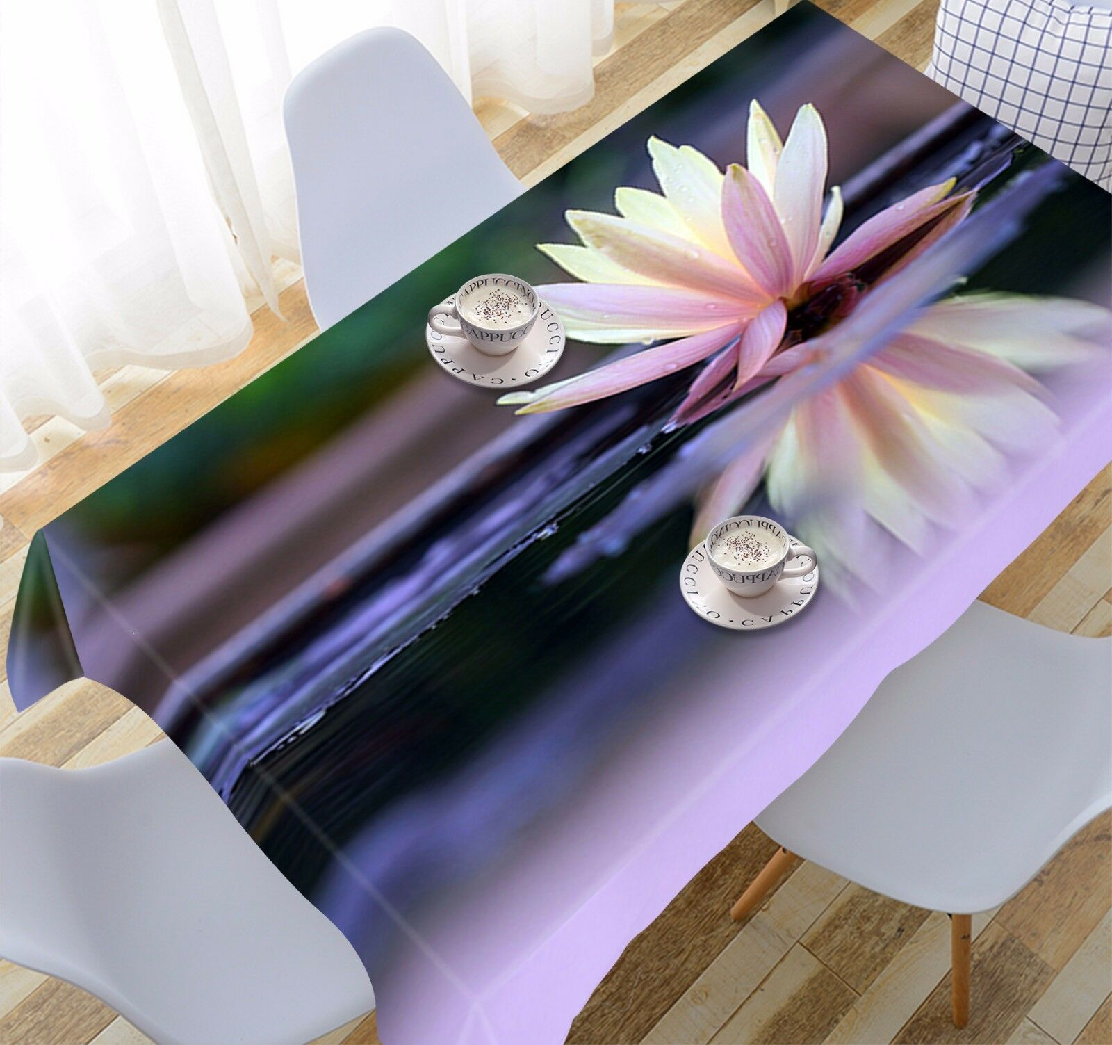 3D Lotus 797 Tablecloth Table Cover Cloth Birthday Party Event AJ WALLPAPER AU