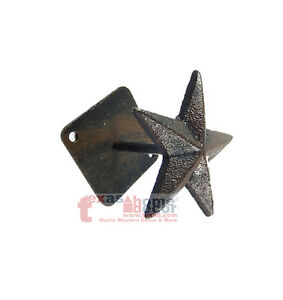 cast iron star wall hook hanger purse cap coat hat decorative detailed western ebay. Black Bedroom Furniture Sets. Home Design Ideas