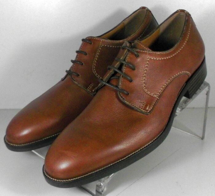 20NP112206 SP50 Men's Shoes Size 9 M Brown Leather Lace Up Johnston & Murphy