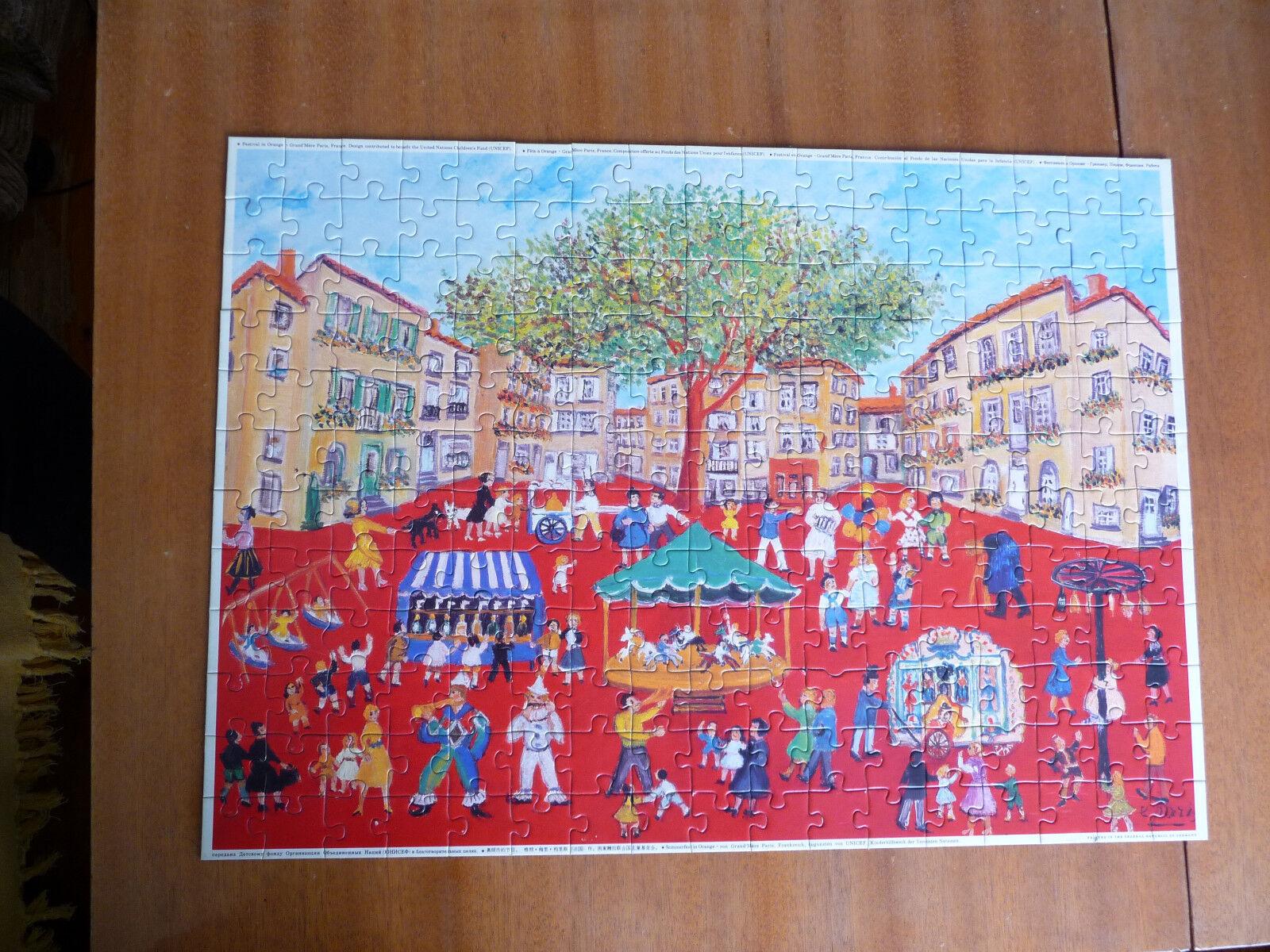 Unicef puzzle 204 pcs vintage Festival in Orange Grand Mere Paris used rare
