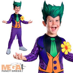 Image is loading Joker-Boys-Fancy-Dress-Batman-Kids-Classic-Cartoon-  sc 1 st  eBay & Joker Boys Fancy Dress Batman Kids Classic Cartoon Halloween ...
