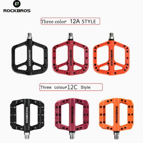 RockBros 1Pair Mountain Bike Bicycle Bearing Pedals Cycling Wide Nylon Pedals