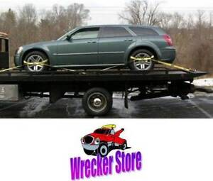 Rollback Car Carrier 8 Point Tie Down Strap System W Chains