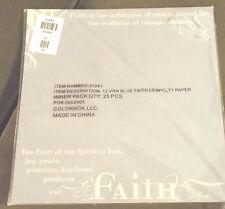 """12"""" Scrapbook Paper WHOLESALE 25p Faith Kindness Spirit Religious Patience VBS"""