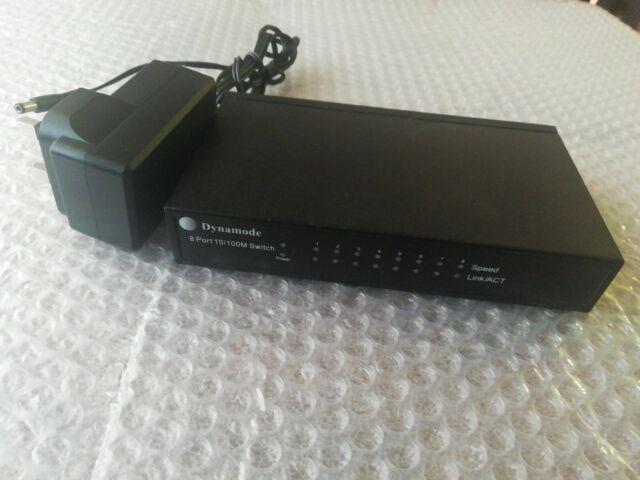 DYNAMODE SW80010-M Desktop 8 Port 10/100 FAST ETHERNET Switch ABR5 Good used con