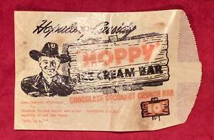 Vintage 1950 Hopalong Cassidy Hoppy Ice Cream Bar Wrapper Early Old Western Rare