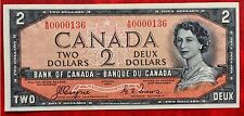 1954 Canada Paper Money $2 P-67 Devil's face Hairdo Uncirculated