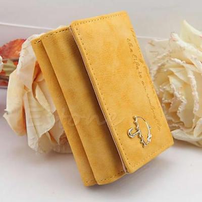 Fashion Women's Style Leather Wallet Button Clutch Lady Purse Short Handbag Bag