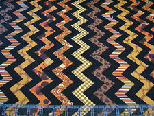 3 Yards Quilt Cotton Fabric- Quilting Treasures Chevron Chic Brown/Amber - SALE