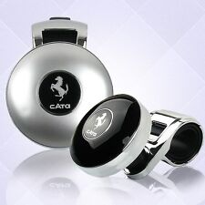 Silver metal Power Handle  Spinner Brodie Brody Suicide Knob for Cars and Trucks