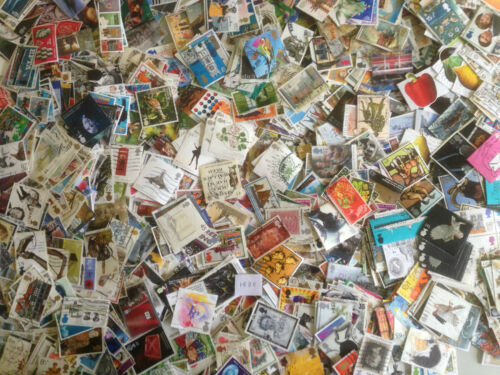 1500 Different Great Britain Commemoratives Stamp Collection
