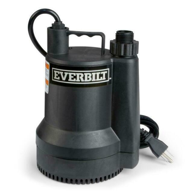 Everbilt Sup54 6hp Plastic Submersible Utility Pump For Sale Online