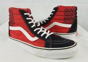 Details about VANS Mens Shoes Sk8,Hi American Flag Mens 7 Womens 8.5 USA Hi  Top Red White Blue