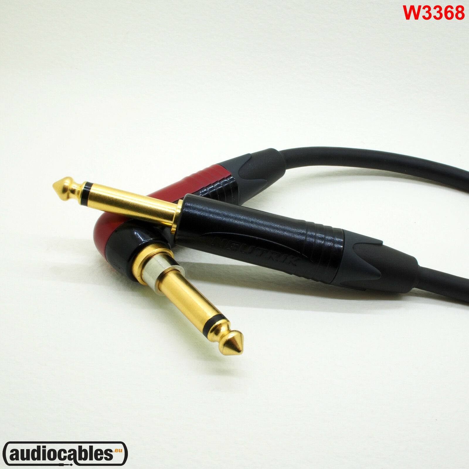 Mogami 3368 Instrument Cable Neutrik Gold Jack Silent Single Angled, Advanced