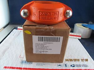 Details about 2'' VICTAULIC 2/60, 3-75 FLEXIBLE COUPLING STYLE 75 RED [D2S3]