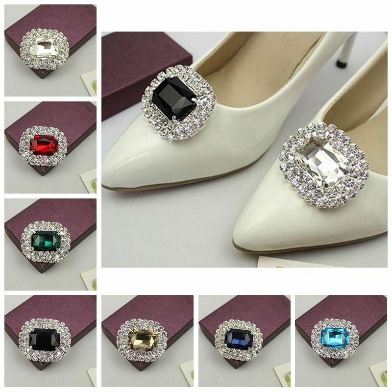 1 Pair Crystal Rhinestone Boots Shoes Clips Buckle Jewelry Lady High Heels Decor
