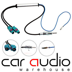 Details about VW Volkswagen Dual Twin Fakra Car Radio Booster Aerial  Antenna Adapter CT27AA25