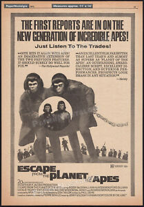 ESCAPE FROM THE PLANET OF THE APES__Original 1971 Trade print AD / poster__promo