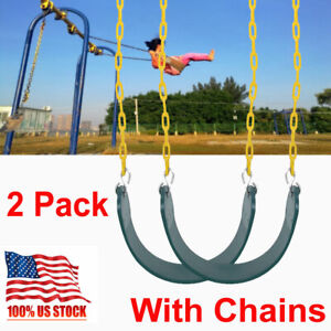 Heavy-Duty-Outdoor-Hanging-Swing-Seat-Set-w-Replacement-Chains-Play-Kids-2-Pack