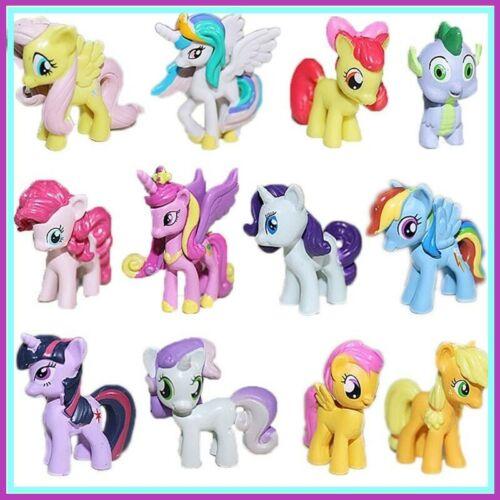 My Little Pony Rainbow Dash 12 Figurine Set Cake Topper Toy Playset FAST SHIP