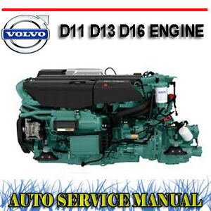 volvo truck d11 d13 d16 engine workshop service repair manual dvd rh ebay com au