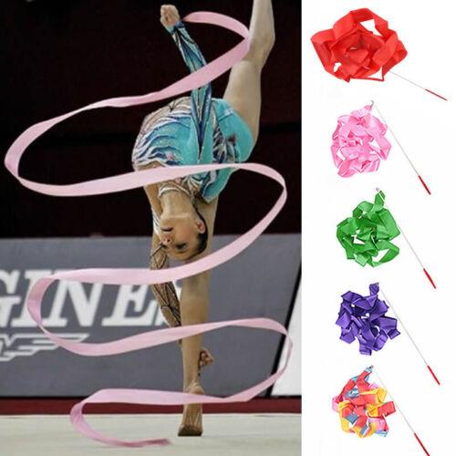 4M Dance Ribbon Rhythmic Art Gymnastic Ballet Streamer Twirling Rod Party Show