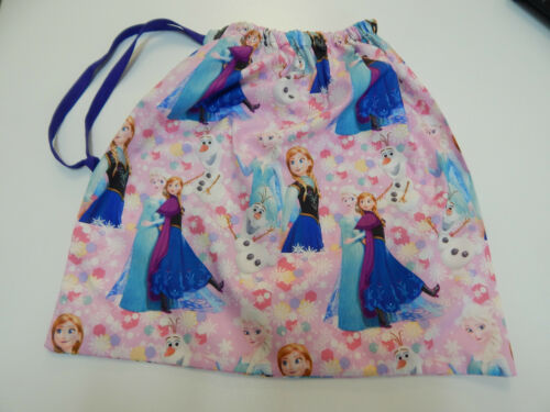 Library Bag Frozen Anna Elsa Drawstring Tote Books Swimming Sleepover