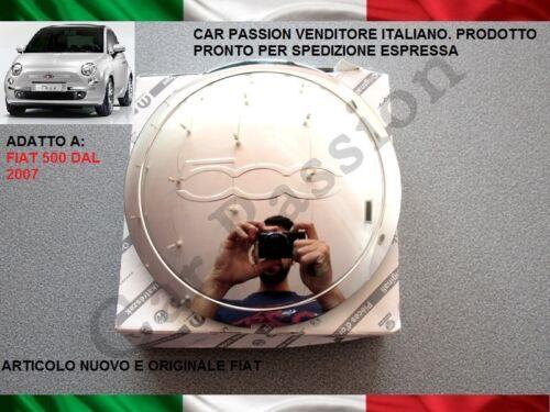coppa ruota fregio FIAT 500 CROMATA ORIGINALE STEMMA coprimozzo HUB CAP
