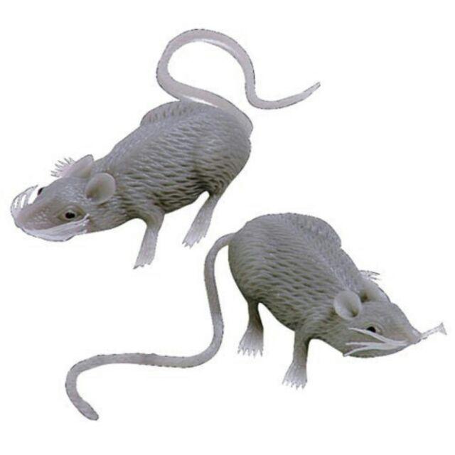 Creepy Gray Rubber Mouse Prank Rat Lot - Mice Lot of 12 MICE