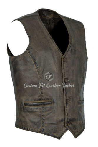 Gilet 5226 Brown in Napa uomo 100 Party Dirty Soft Fashion da Real pelle r7rHn4q6