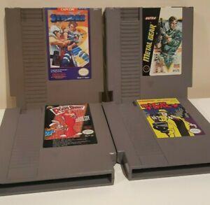 NES-Nintendo-4-Games-Lot-Metal-Gear-Strider-Roger-Rabbit-Dick-Tracy