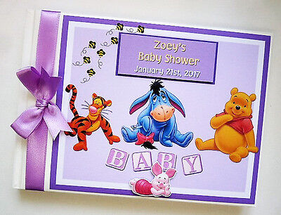 ANY DESIGN DISNEY WINNIE THE POOH  AND FRIENDS BOY//GIRL1ST BIRTHDAY GUEST BOOK
