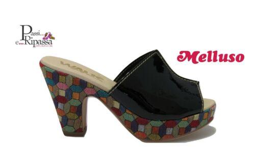 Scarpe sandali Melluso Walk da donna in pelle vernice scalzato con tacchi alti