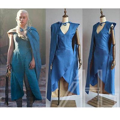 Game of Thrones Daenerys Cosplay Costume Halloween Fancy Dress Ice & Fire Adult