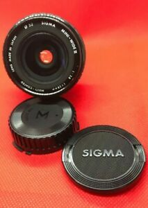 OBJECTIF-SIGMA-FOR-CANON-FD-50-mm-1-2-8-f-28mm-MINI-WIDE-II-LENS-JAPAN-MADE