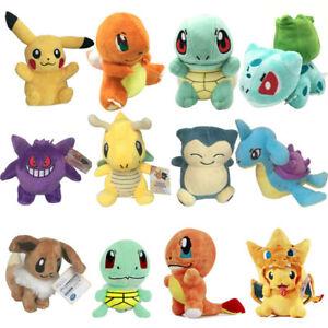 Rare Pokemon Pikachu Squirtle Snorlax Plush Doll Soft Toy Stuffed Teddy Kid Gift