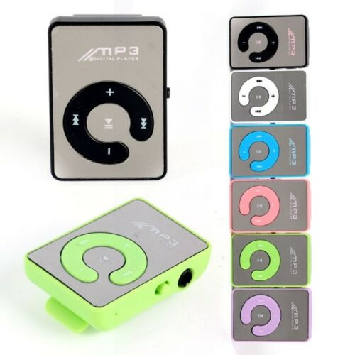 Mirror Mini Clip Portable USB Digital MP3 Music Player Support 8GB TF Card