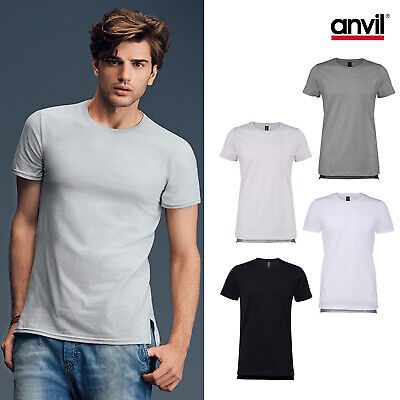 Anvil Fashion Basic Long Length And Lean Tee 5624 -men Plain Cotton T-shirt Top