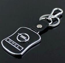 LG89 PU Leather Black Buckle Keyring For Opel Car Logo Key Ring Keychain Gift