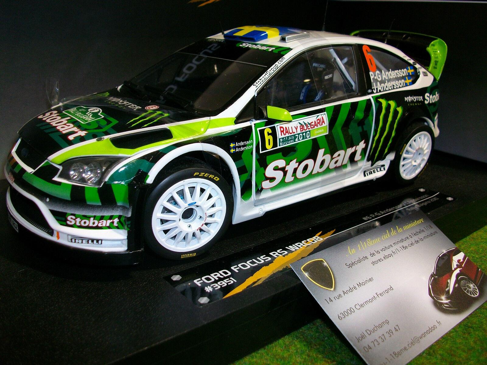 FORD FOCUS RS WRC08 STOBART Rallye BULGARIE 2010 au 1 18 SUNSTAR 3951 voiture