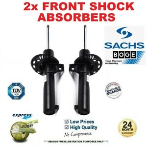 2x SACHS BOGE Front Axle SHOCK ABSORBERS for BMW 1 (F21) 118d 2011->on