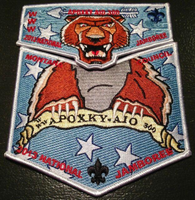 APOXKY-AIO OA LODGE 300 MONTANA COUNCIL 299 361 FLAP 2-PATCH 2013 SCOUT JAMBOREE