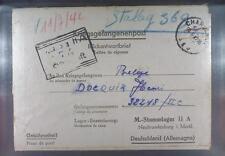 Camp Stalag IIA Neubrandenburg 1942 POW to Belgium Kriegsgefangenenpost L77b