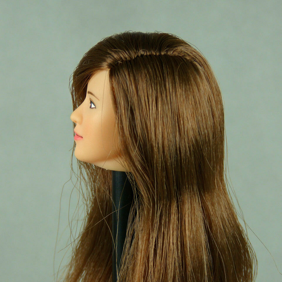 1 6 Scale Cy Girl, TTL, ZC Lady's Mission - Female Brunette Head Sculpt Cone Fit