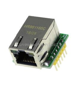 USR-ES1 ENC28J60 W5500 Chip SPI to LAN/ Ethernet Converter TCP/IP Module NEW