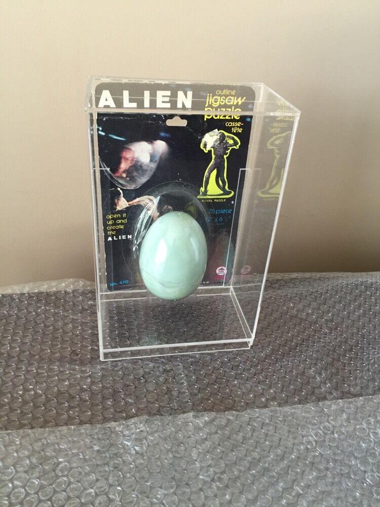 1979 Alien Hg Juguetes Huevo Puzzle Con Personalizados Acrílico Funda Rara-moc-kenner -
