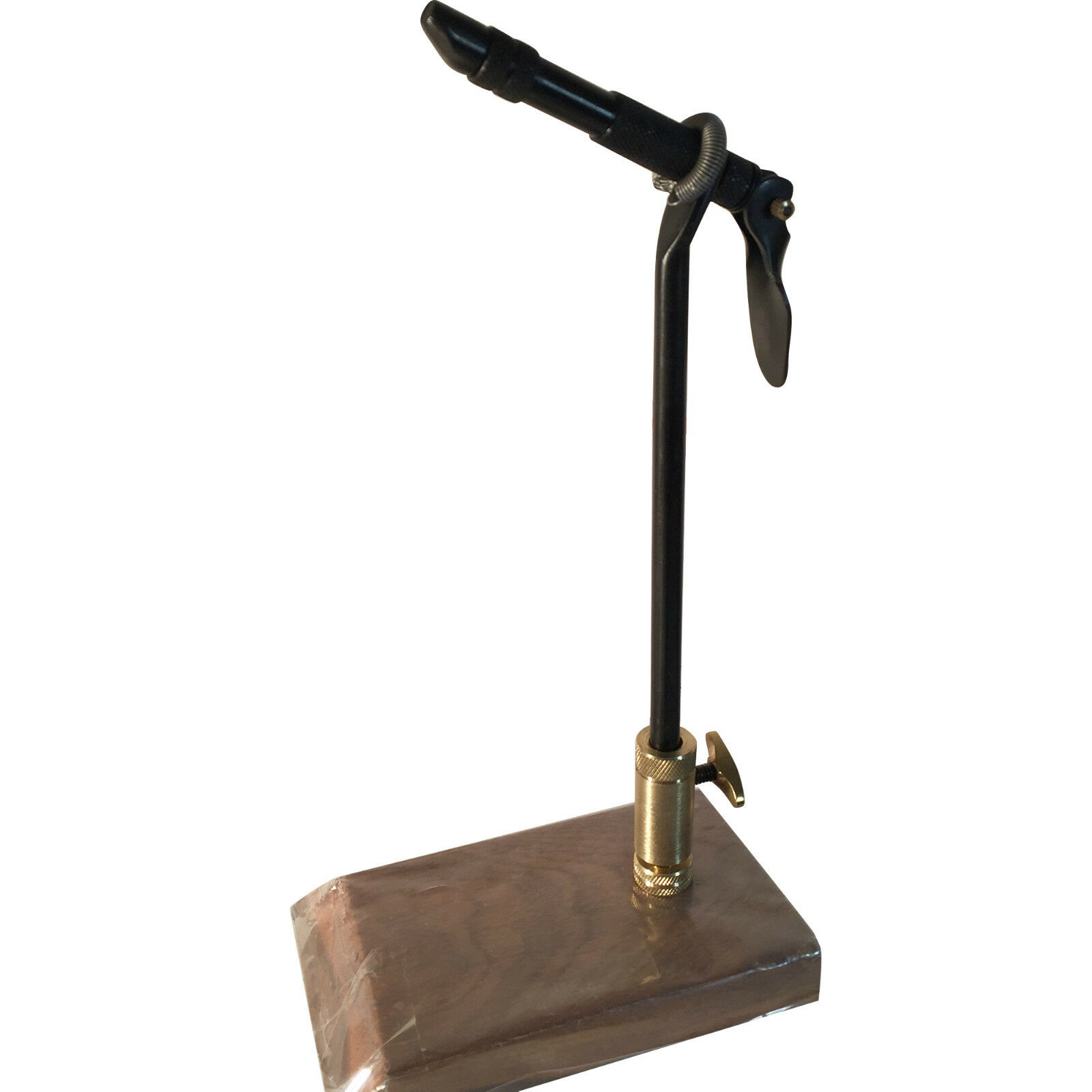 American Fly Tyers Premium Teak Wood and Metal Base + AA Vise.(Reducer Included)